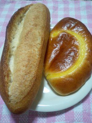 アンジュのクリームパン&フランスパン