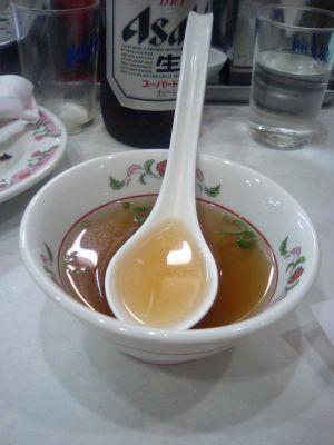 中華飯のスープ