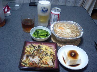 貧相な晩飯