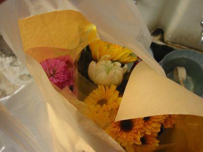 花も買って