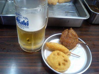 ビール&串かつ