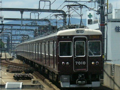 07.08.15 阪急宝塚線 7010F 急行梅田