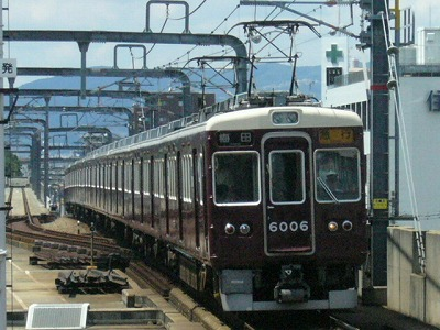 07.08.15 阪急宝塚線 6006F 急行梅田