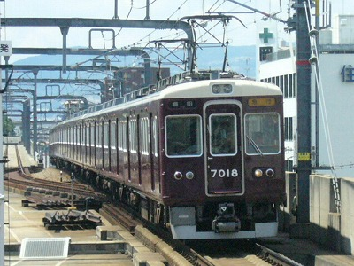 07.08.15 阪急宝塚線 7018F 急行梅田