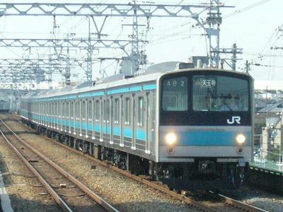 07.08.17 阪和線 205系0 快速天王寺