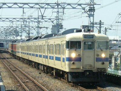 07.08.17 阪和線 113系F407+F403 5+1運用 快速天王寺