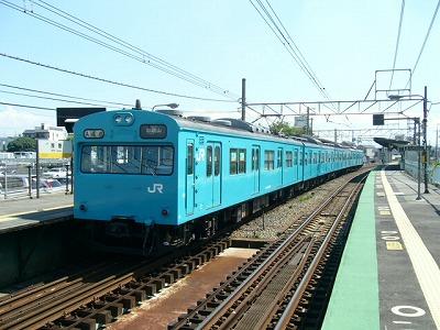 07.08.21阪和線 クモハ103-2505
