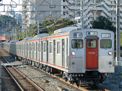 07.10.21 相鉄線 22運用 7708F 各停横浜