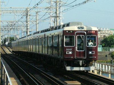 07.08.16 阪急神戸線 5001F 通勤特急梅田