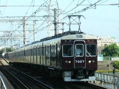 07.08.16 阪急神戸線 7007F 特急梅田