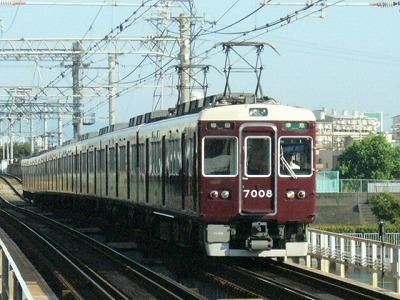 07.08.16 阪急神戸線 7008F 準急梅田