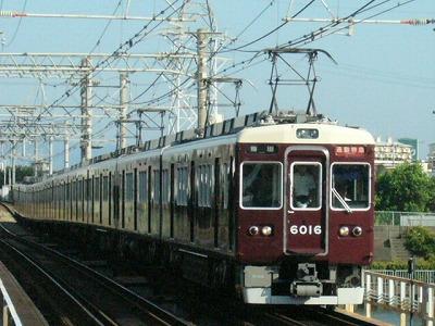 07.08.16 阪急神戸線 6016F 通勤特急梅田