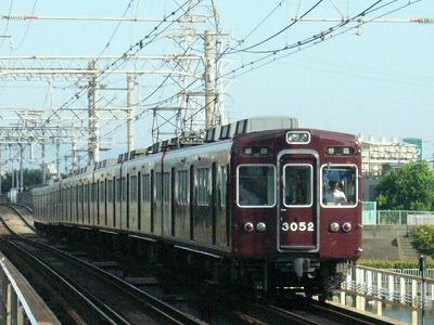 07.08.16 阪急神戸線 3052F 普通梅田