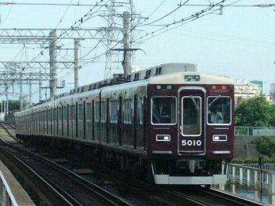 07.08.16 阪急神戸線 5010F 特急梅田