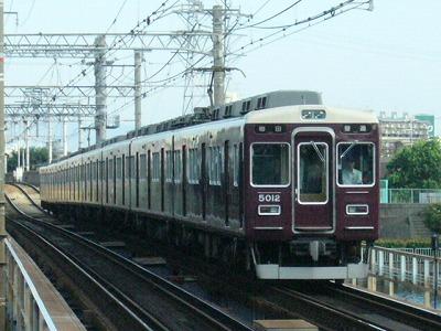 07.08.16 阪急神戸線 5012F 普通梅田