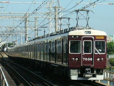 07.08.16 阪急神戸線 7036F 通勤急行梅田
