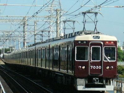 07.08.16 阪急神戸線 7030F 特急梅田