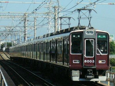 07.08.16 阪急神戸線 8003F 準急梅田