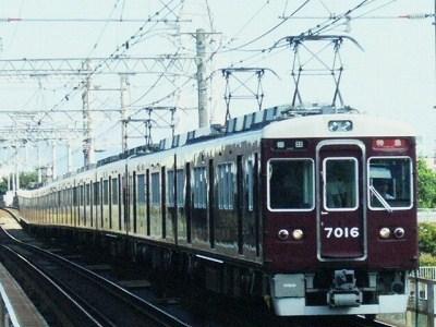 07.08.16 阪急神戸線 7016F 特急梅田