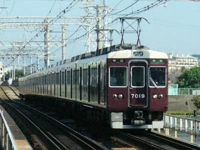 07.08.16 阪急神戸線 7019F 準急梅田