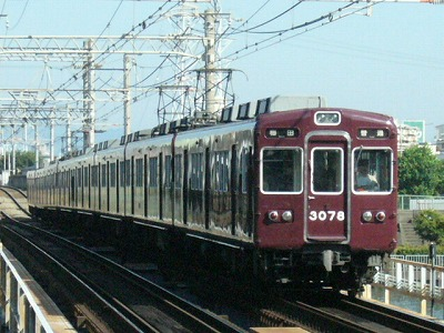07.08.16 阪急神戸線 3078F 普通梅田