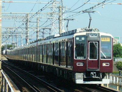 07.08.16 阪急神戸線 8201F 通勤急行梅田