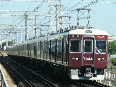 07.08.16 阪急神戸線 7034F 特急梅田