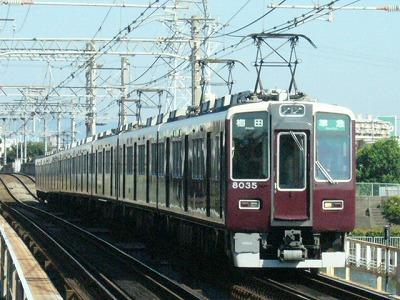 07.08.16 阪急神戸線 8035F 準急梅田