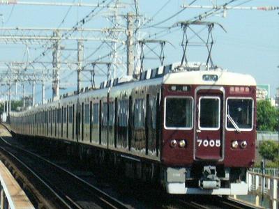 07.08.16 阪急神戸線 7005F 通勤特急梅田