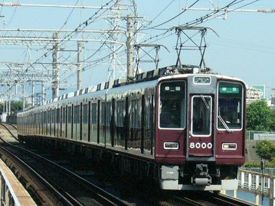 07.08.16 阪急神戸線 8000F 準急梅田