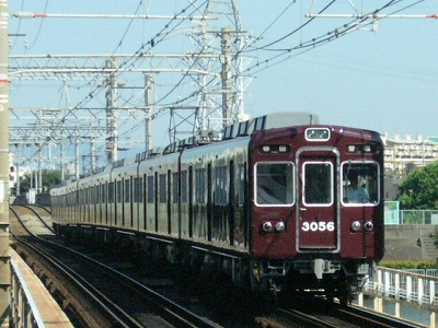 07.08.16 阪急神戸線 3056F 普通梅田
