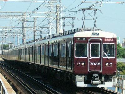 07.08.16 阪急神戸線 7035F 通勤特急梅田