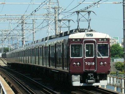 07.08.16 阪急神戸線 7019F 普通梅田