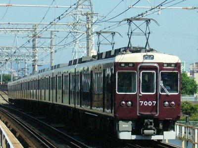 07.08.16 阪急神戸線 7007F 普通梅田