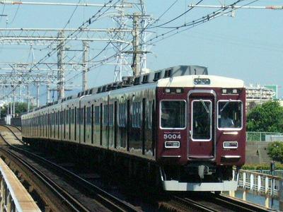 07.08.16 阪急神戸線 5004F 普通梅田