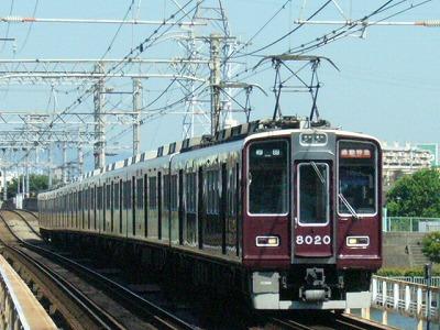 07.08.16 阪急神戸線 8020F 通勤特急梅田
