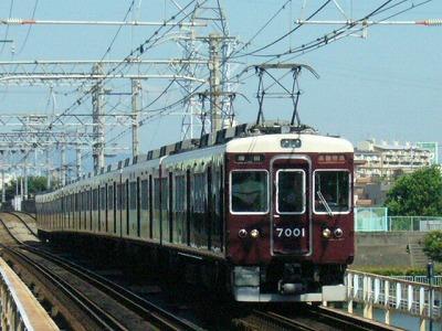 07.08.16 阪急神戸線 7001F 通勤特急梅田
