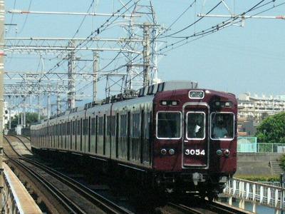 07.08.16 阪急神戸線 3054F 普通梅田