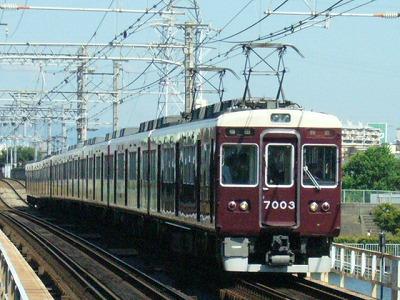 07.08.16 阪急神戸線 7003F 特急梅田