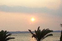 浜名湖と夕日