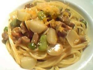 春野菜と鴨のスパゲティ