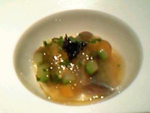 鰯のマリネ オーベルジュドリル風 ポテトのムースとキャビアのジュレ