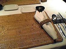 かわ村 テーブルセッティング