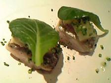 太刀魚の炙り 黄林のコンポートとレホール マーシュのサラダ