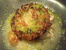 そら豆の焼きリゾット 甘鯛と鯛白子のソース うすい豆のふりかけ