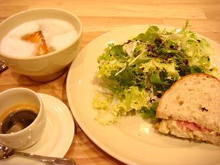 チキンサンドセット(¥1350)