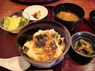 湯葉丼定食