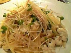 白身魚と香味野菜(白葱・みょうが・かいわれ)のスパゲッティ 柚子こしょう風味