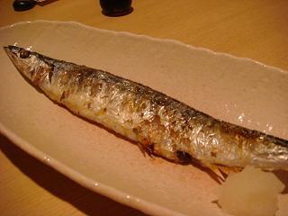 新秋刀魚の塩焼