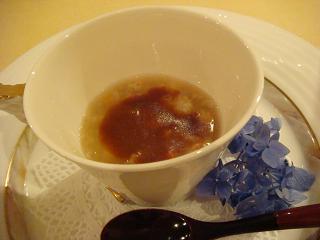 三種豆と豆腐の椀蒸